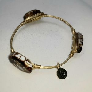 BOURBON AND BOWTIES WIRE WRAPPED AGATE BANGLE